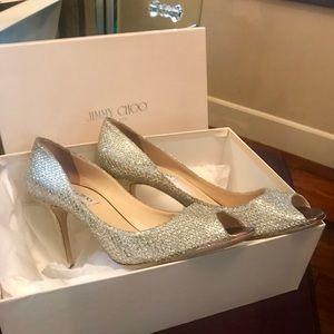 Jimmy Choo Evelyn Shoe Champagne 41
